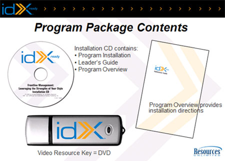 idXready - idXready Training Program, idxready installation cd, idXready Video Resource Key, idXready Training Program Overview